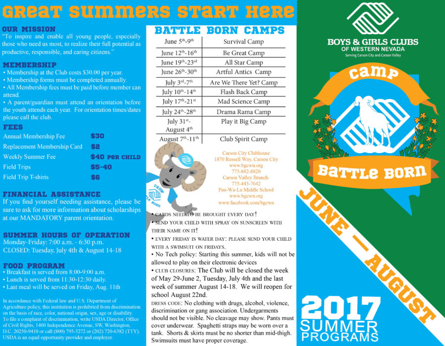 2017 Summer Programs and information for all sites