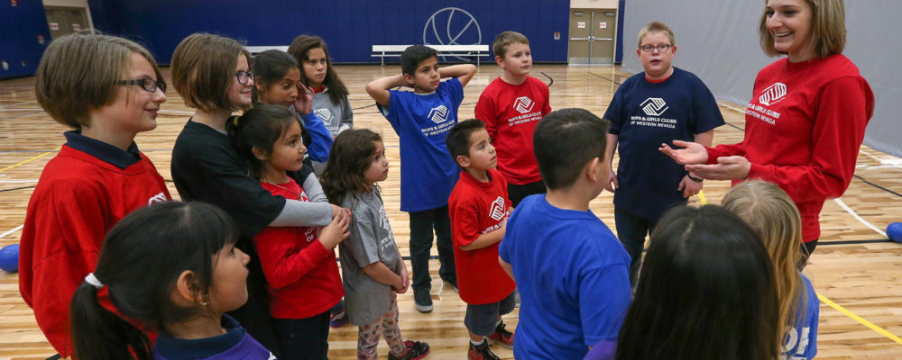 Boys and Girls Club of Western Nevada members play dodgeball at the MAC in Carson City, Nev., on Friday, Jan. 23, 2016.  Photo by Cathleen Allison
